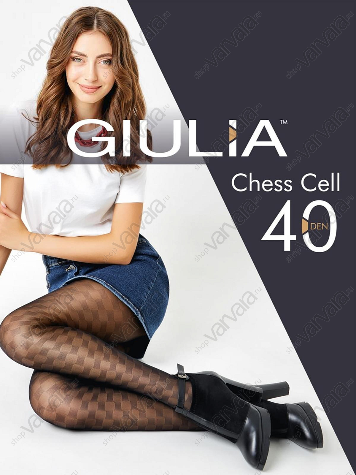 Колготки Giulia Chess Cell 01
